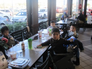 All the boys at Chick-fil-A.